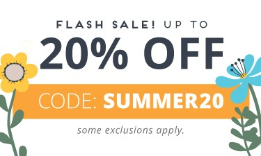 Summer Flash Sale - code: SUMMER20