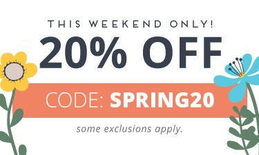 Spring Flash Sale - code: SPRING20
