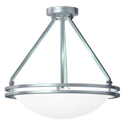 Access Lighting 20460GU-BS/WHT Aztec- Three Light Semi-FlushMount