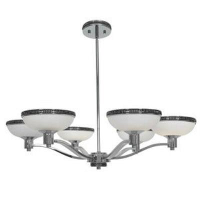 Access Lighting 23870-CH/OPL Onyx - Six Light Chandelier