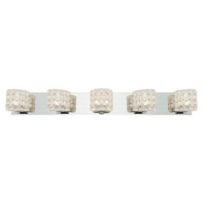 Access Lighting 23923-CH/CCL Prizm- Five Light Bath Bar