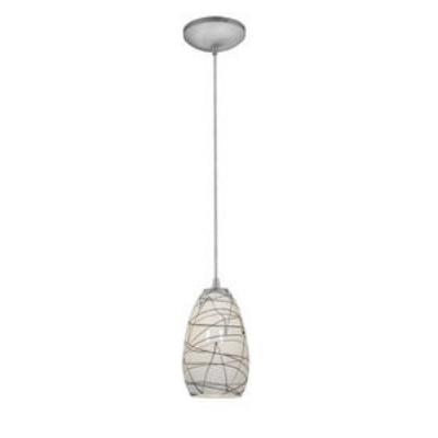 Access Lighting 28812-BS/BLWH Tali Inari Silk - One Light Pendant