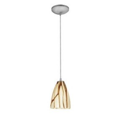 Access Lighting 28025-1R-BS/LAV Ami Safari - One Light Pendant with Round Canopy