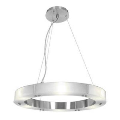 Access Lighting 50465-BS/FST Oracle- Six Light Small Cable Ring Chandelier