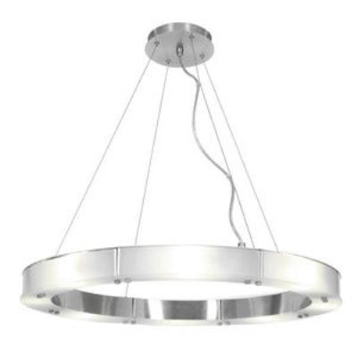 Access Lighting 50466-BS/FST Oracle- Eight Light Large Cable Ring Chandelier
