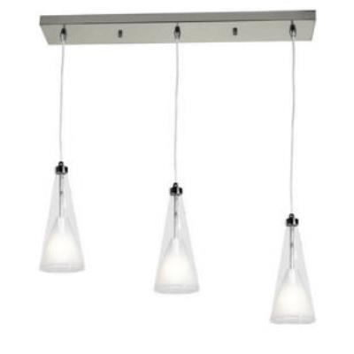 Access Lighting 50544-CH/CLOP Icicle - Three Light Bar Pendant