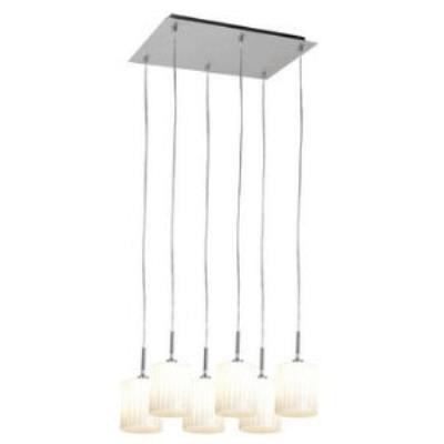 Access Lighting 50965-BS/WH Leilah-- Six Light Pendant