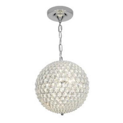 Access Lighting 51007-CH/CCL Kristal - Three Light Chain Hung Ball Pendant