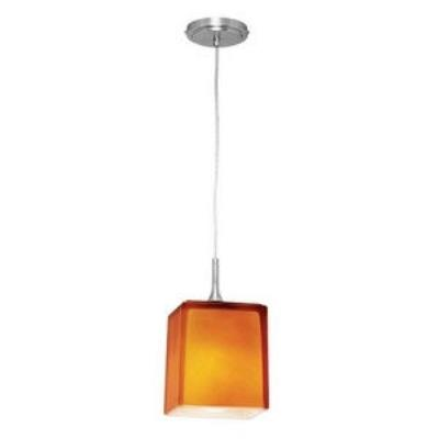 Access Lighting 97918 Delta - One Light Line Voltage Pendant with Hermes Glass