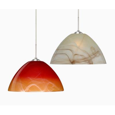 Besa Lighting Tessa Pendant-1 Tessa - One Light Cord Pendant with Flat Canopy