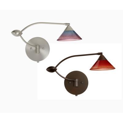 Besa Lighting Kona Double Swing Kona - One Light Swing Arm Wall Sconce with Cord and Plug Kit