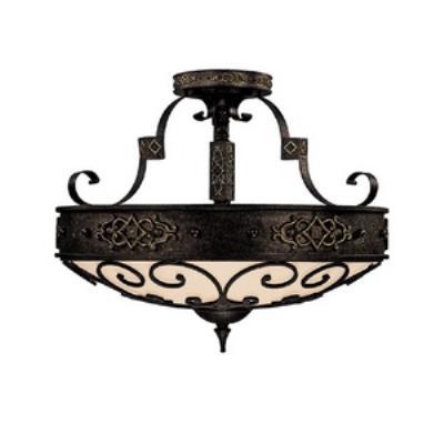 Capital Lighting 3615RI River Crest - Four Light Semi-Flush Mount