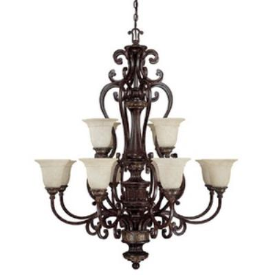 Capital Lighting 3632CB-283 Chesterfield - Twelve Light Chandelier