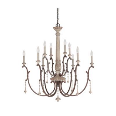 Capital Lighting 4090FO Chateau - Ten Light 2-Tier Chandelier