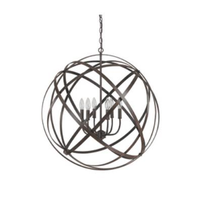 Capital Lighting 4236RS Axis - Six Light Pendant