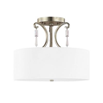 Capital Lighting 4467WG-555-CR Simone - Three Light Semi-Flush Mount