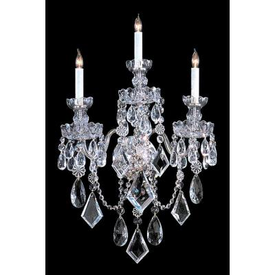Crystorama Lighting 1043 Traditional Crystal - Three Light Wall Sconce