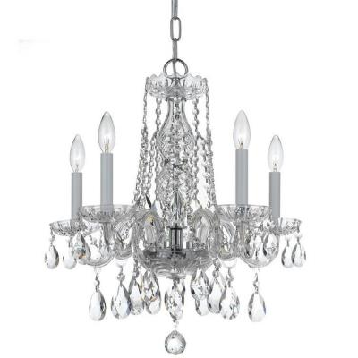 Crystorama Lighting 1061 Traditional Crystal - Five Light Mini Chandelier