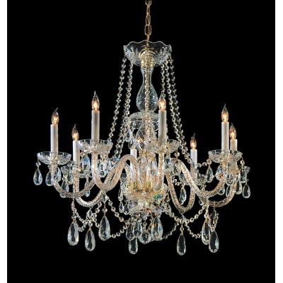 Crystorama Lighting 1128 Traditional Crystal - Eight Light Chandelier