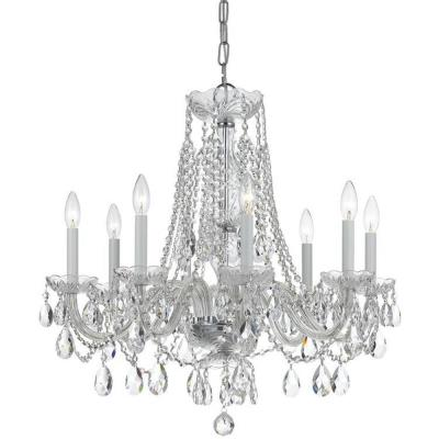 Crystorama Lighting 1138 Traditional Crystal - Eight Light Chandelier