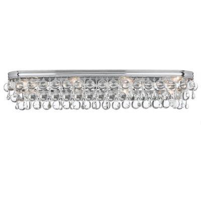Crystorama Lighting 134 Calypso - Eight Light Bathroom Lights