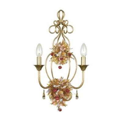 Crystorama Lighting 402 Fiore - Two Light Wall Sconce