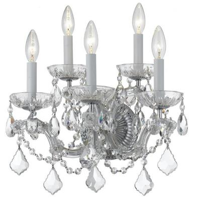 Crystorama Lighting 4404 Maria Theresa - Five Light Wall Sconce