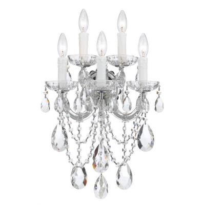 Crystorama Lighting 4425 Maria Theresa - Five Light Wall Sconce