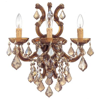 Crystorama Lighting 4433 Maria Theresa - Three Light Wall Sconce