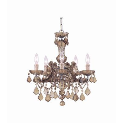 Crystorama Lighting 4476 Maria Theresa - Five Light Mini Chandelier