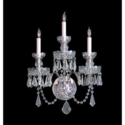 Crystorama Lighting 5023 Traditional Crystal - Three Light Wall Sconce