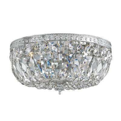 Crystorama Lighting 712 Three Light Flush Mount