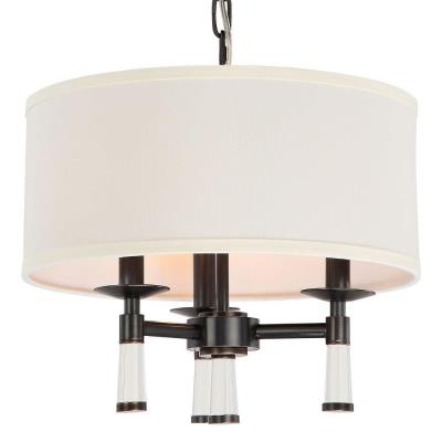 Crystorama Lighting 8863 Baxter - Three Light Chandelier