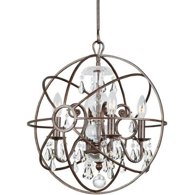 Crystorama Lighting 9025 Solaris - Four Light Mini Chandelier