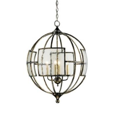 Currey and Company 9750 Broxton Orb - Four Light Chandelier