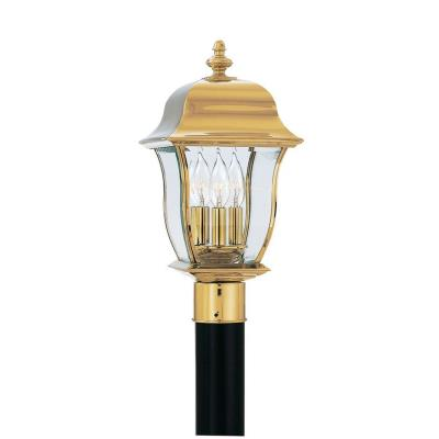 Designers Fountain 1556-PVD-PB 3 Light Outdoor Post Lantern