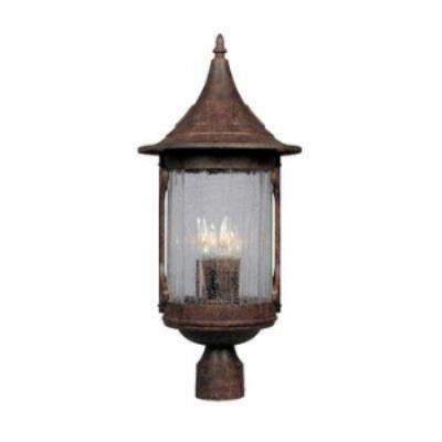 Designers Fountain 20936-CHN Canyon Lake - Four Light Outdoor Post Lantern
