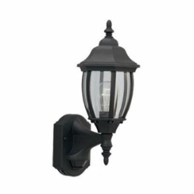 Designers Fountain 2420MD-BK 1 Light Outdoor Motion Detector Wall Lantern