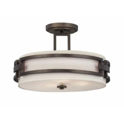 Designers Fountain 83811-FBZ Del Ray - Three Light Semi-Flush Mount