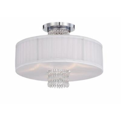 Designers Fountain 83911-CH Candence - Three Light Semi-Flush Mount