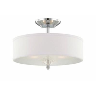 Designers Fountain 84211-CH Palatial - Three Light Semi-Flush Mount