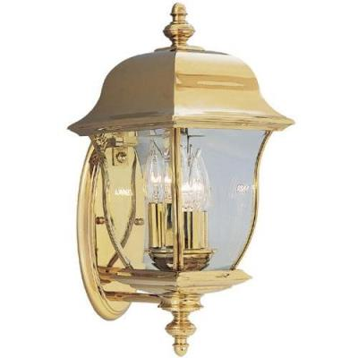 Designers Fountain 1542-PVD-PB 3 Light Outdoor Wall Lantern