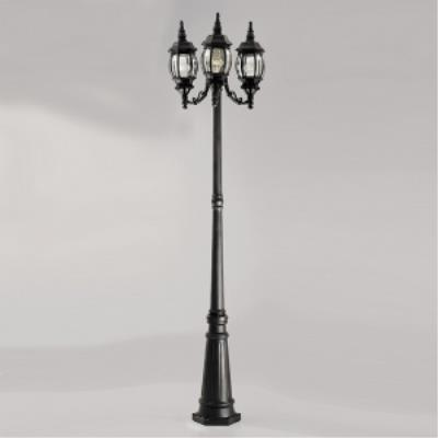 Designers Fountain 1923-BK Hacienda - Three Light Outdoor Post Lantern