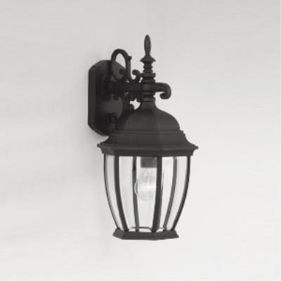 Designers Fountain 2431-BK Triverton - One Light Outdoor Wall Lantern
