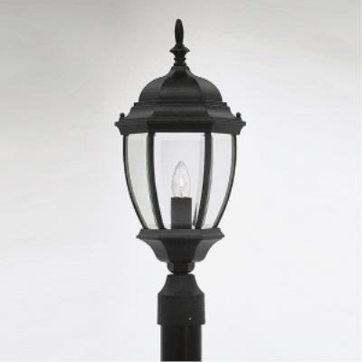 Designers Fountain 2436-BK Triverton - One Light Outdoor Post Lantern