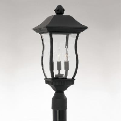 Designers Fountain 2726-BK Chelsea - Three Light Outdoor Post Lantern