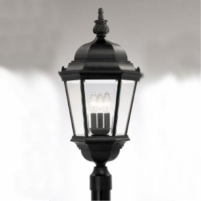 Designers Fountain 2956-BK Abbington - Three Light Outdoor Post Lantern