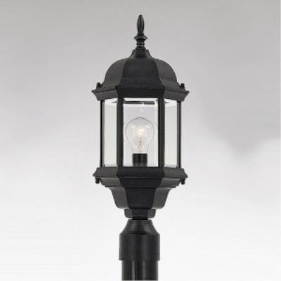 Designers Fountain 2976-BK Devonshire - One Light Outdoor Post Lantern