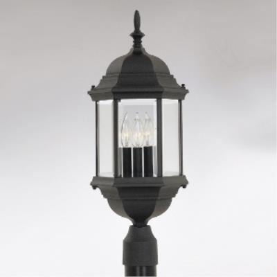 Designers Fountain 2986-BK Devonshire - Three Light Outdoor Post Lantern