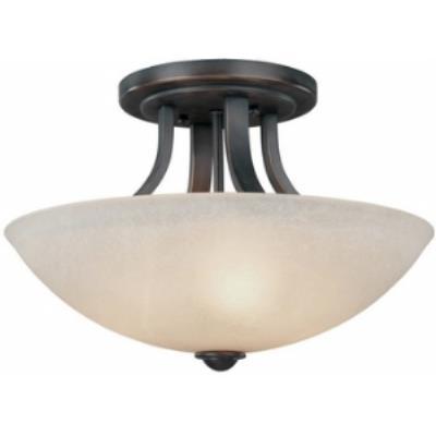 Dolan Lighting 204-78 Fireside - Three Light Semi - Flush Mount